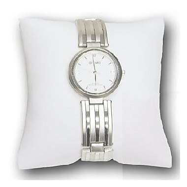 Zakka Watch Bracelet Pillow Display Leather White