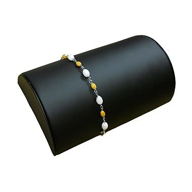 Zakka Half Moon Bracelet Chain Display Black Leather
