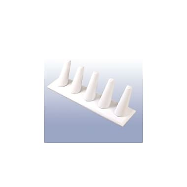 Zakka Ring Display 5-Finger Stand White Leather