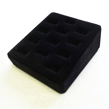 Zakka Ring Display Tray 12-Slot Ramp Black Velvet
