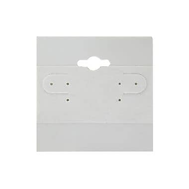 Zakka – Carte à suspendre en plastique de 2 x 2 po pour boucles d'oreilles, 100/paquet, gris