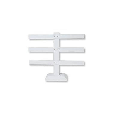 Zakka Earring T-Bar 30pair Display Stand White Leather