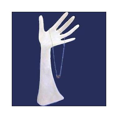 Zakka – Présentoir de 13 po de hauteur en forme de main pour bagues, bracelets et colliers, blanc givré