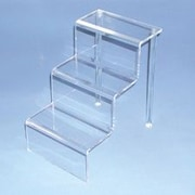 Zakka Acrylic Step Riser Stair Display, Clear
