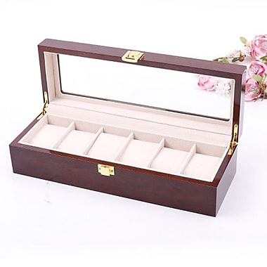 Zakka Deluxe 6-Watch Rosewood Display Case