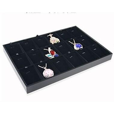 Zakka Pendant Earring 18-Pad Jewelry Tray Black Velvet