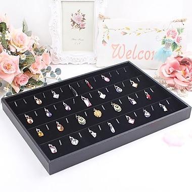 Zakka Pendant Jewelry Display Tray Black Velvet 56 Tab