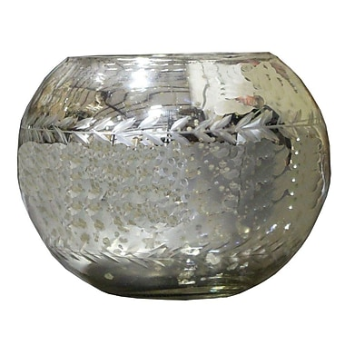 LiveVie Champagne Collection Etched Glass Votive (ANC-802)