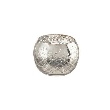 LiveVie – Bougeoir votif en verre à motif diamanté de la collection Champagne, moyen (ANC-805)