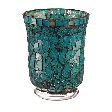 LiveVie – Bougeoir-lanterne en verre de la collection Blue Moon, petit (ANC-825)