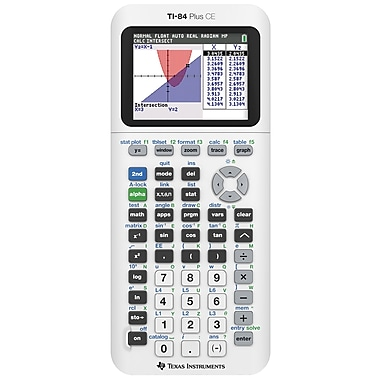Texas Instruments TI-84 Plus CE Limited Edition Graphing Calculator, White