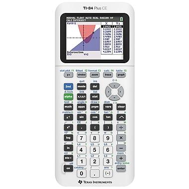 Texas Instruments - Calculatrice graphique TI-84 Plus CE, édition standard, blanc