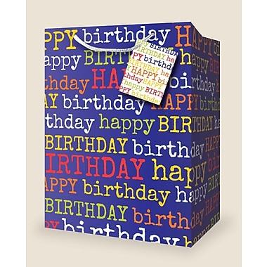 Petits sacs-cadeaux, « Happy Birthday », 12/paquet