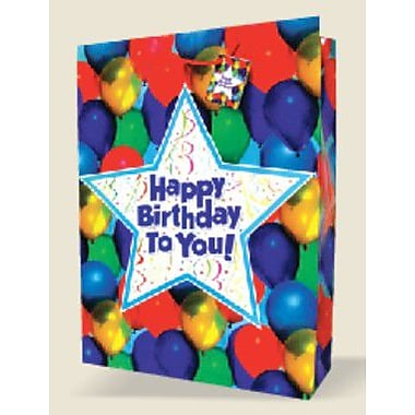 Jumbo Birthday Bags, Balloons, 12 Bags