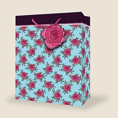 Très grands sacs féminins, floral, 12/paquet