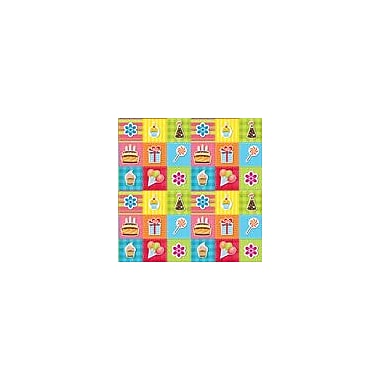 2 Sheet Flat Birthday Wrap, General, 24 Sheets