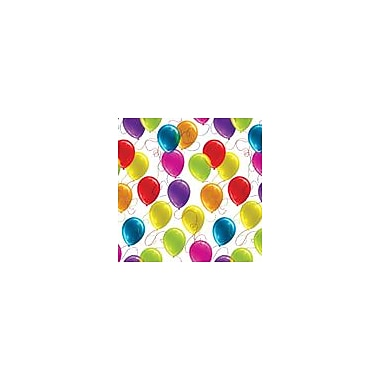 2 Sheet Flat Birthday Wrap, Multi-Coloured, 24 Sheets