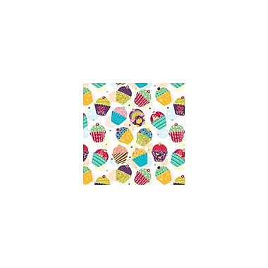2 Sheet Flat Birthday Wrap (57032), Cupcakes, 24 Sheets