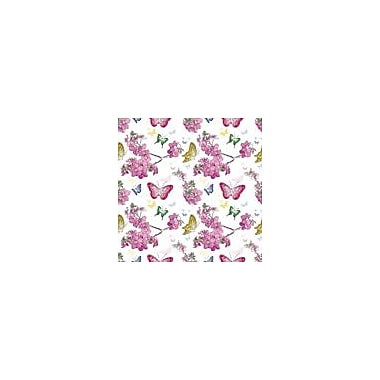 2 Sheet Flat Feminine Wrap, Butterflies, 24 Sheets