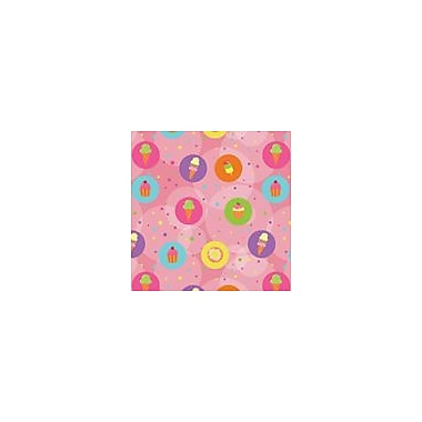 2 Sheet Flat Birthday Wrap, Dessert, 24 Sheets