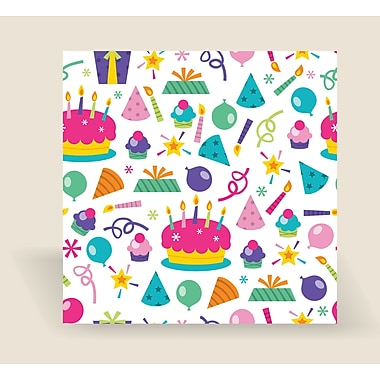 2 Sheet Flat Birthday Wrap, Party,24 Sheest