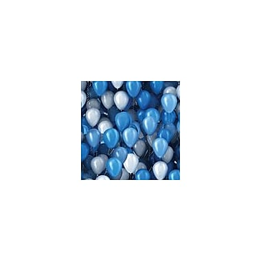 2 Sheet Flat Birthday Wrap, Blue Balloons, 24 Sheets