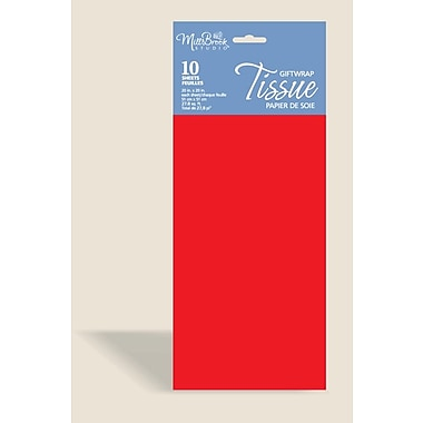 Solid Colour Tissue, Cherry Red, 12/Pack
