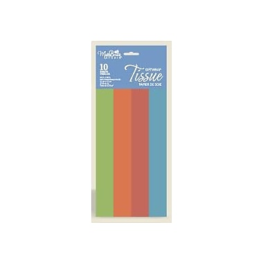 Solid 4 Colour Tissue, Festive, 12/Pack