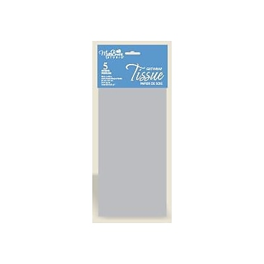 6 Sheet Tissue Paper, Silver, 12/Pack