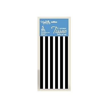 Striped 6 Sheet Tissue Paper, Black/White, 12/Pack