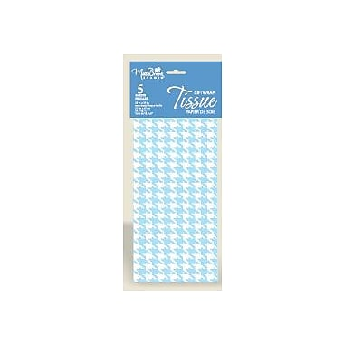 Printed Hounds Tooth 6 Sheet Tissue Paper, Light Blue, 12/Pack