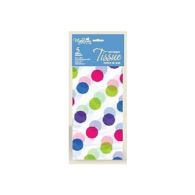Printed 6 Sheet Tissue Paper, Multi Dots, 12/Pack