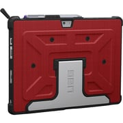 Urban Armor Gear Rogue Carrying Case (Folio) for Tablet, Stylus, Magma, Black