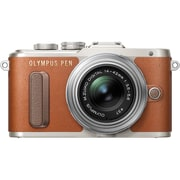 Olympus PEN E-PL8 16.1 Megapixel Mirrorless Camera with Lens, 14 mm, 42 mm, Brown