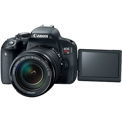 Canon EOS Rebel T7i 24.2 Megapixel Digital SLR Camera with Lens, 18 mm, 135 mm