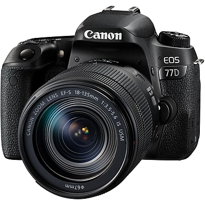 Canon EOS 77D 24.2 Megapixel Digital SLR Camera with Lens, 18 mm, 135 mm