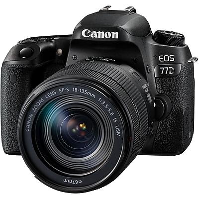 Canon EOS 77D 24.2 Megapixel Digital SLR Camera with Lens, 18 mm, 135 mm