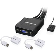 IOGEAR 2-Port USB VGA Cable KVM with DisplayPort Adapters