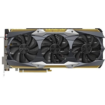 Zotac GeForce GTX 1080 Ti Graphic Card, 1.61 GHz Core, 1.72 GHz Boost Clock, 11 GB GDDR5X, Triple Slot Space Required IM18H2796