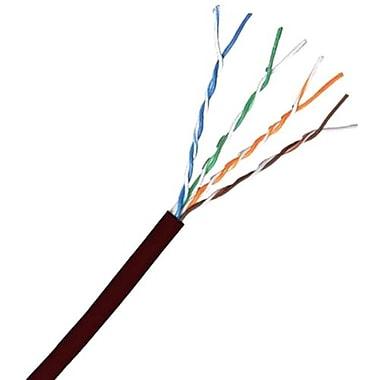 Comprehensive Cat 6 550 MHz Shielded Plenum Solid Black Bulk Cable 1000ft