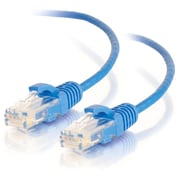 C2G 3ft Cat6 Snagless Unshielded (UTP) Slim Network Patch Cable, Blue