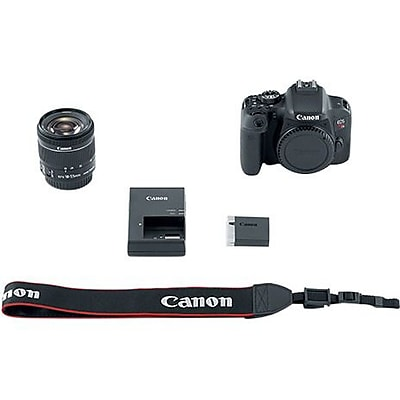 Canon EOS Rebel T7i 24.2 Megapixel Digital SLR Camera with Lens, 18 mm, 55 mm