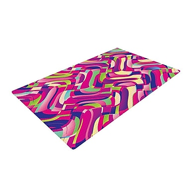 East Urban Home Dawid Roc Colorful Movement Abstract Pink Area Rug; 4' x 6'