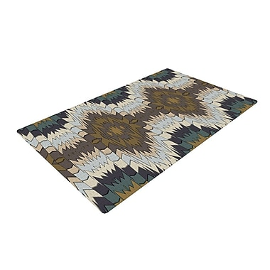 East Urban Home Akwaflorell Papercuts Geometric Brown Area Rug; 4' x 6'