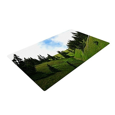 East Urban Home Robin Dickinson Going to the Mountains Green/Blue Area Rug; 2' x 3'