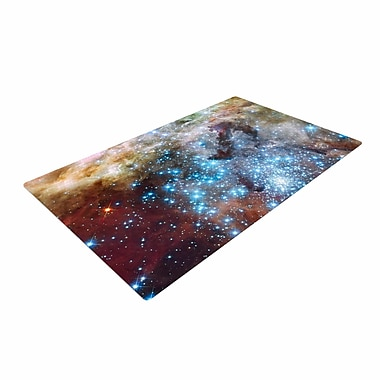 East Urban Home Suzanne Carter Star Cluster Space Blue Area Rug; 2' x 3'