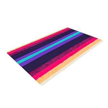 East Urban Home Nika Martinez Surf Stripes Purple/Red Area Rug; 2' x 3'