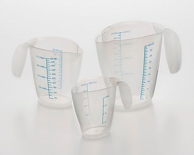 Cook Pro 3-Piece Plastic Measuring Cup Set WYF078281087123