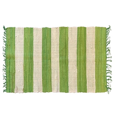 Highland Dunes Bruno Stripe Area Rug in Green