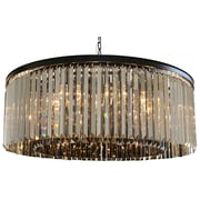 Everly Quinn Sheba 12-Light Crystal Chandelier; Smoked Glass